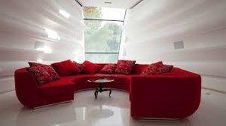 Canapea rosie livingroom