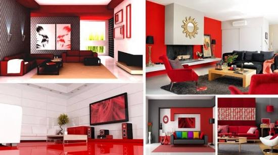 Designuri interioare rosii