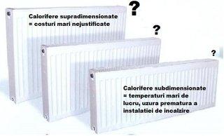 Calcul dimensionare calorifere