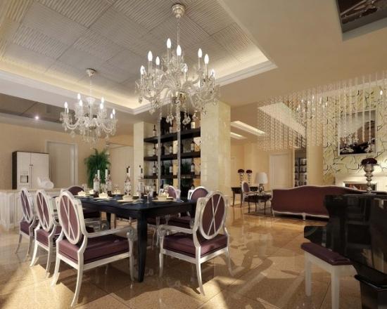 Dining cu decor modern
