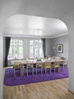 Covor mare mov si pufos de culoare violet