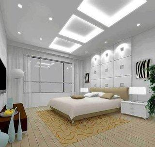Amenajare dormitor cu alb