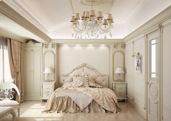 Design dormitor in stil francez de lux