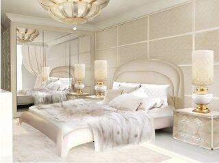 Dormitor mare alb cu auriu