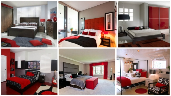 Decoruri rosii negre pentru dormitoare