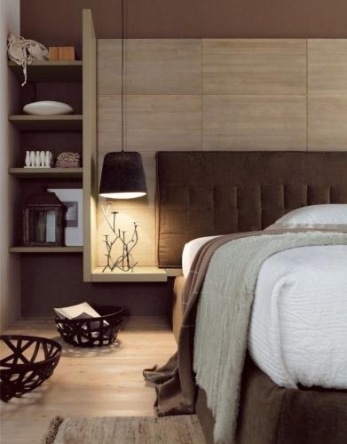 Idee de compartimentare intr-un dormitor