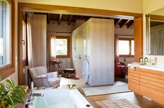 Dormitor open space cu dressing si baie