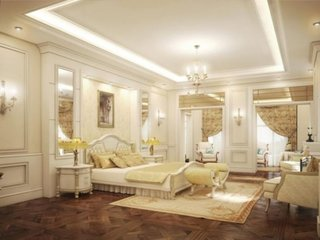 Dormitor luxos auriu