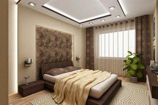 Dormitor modern cu decor auriu