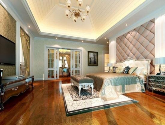 Perete dormitor tapitat