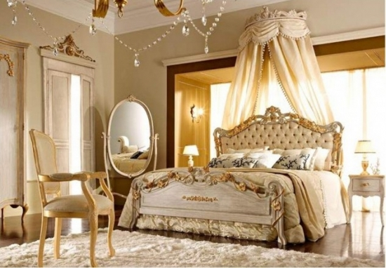 Decor dormitor in stil romantic francez