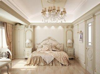 Dormitor alb in stil francez