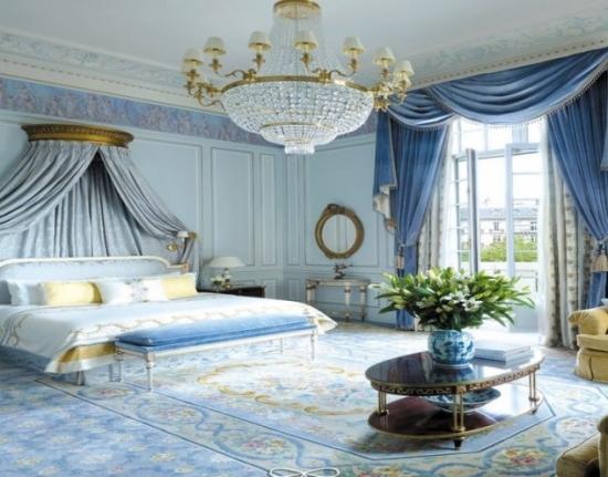 Dormitor bleu in stil francez