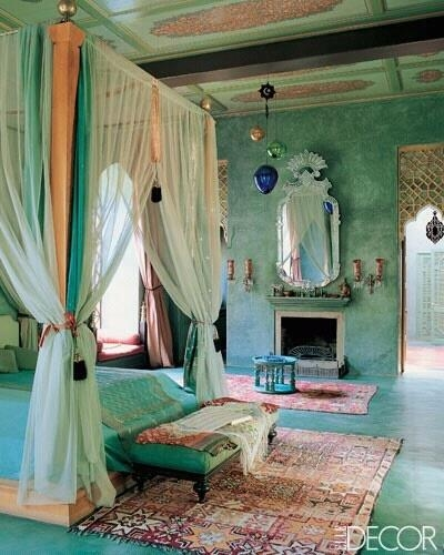 Dormitor amenajat in stil traditional marocan