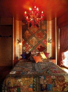Dormitor romantic cu influente marocane