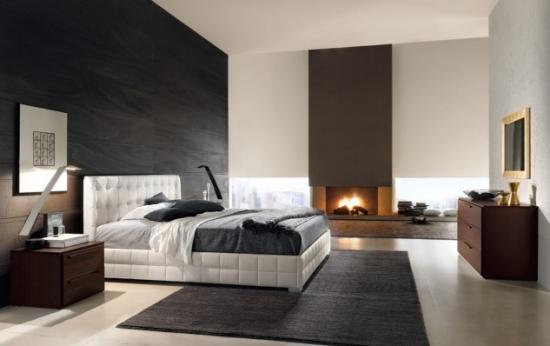 Dormitor elegant cu semineu