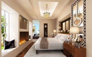 Dormitor luxos cu semineu
