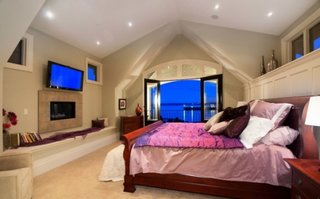Dormitor matrimonial cu semineu