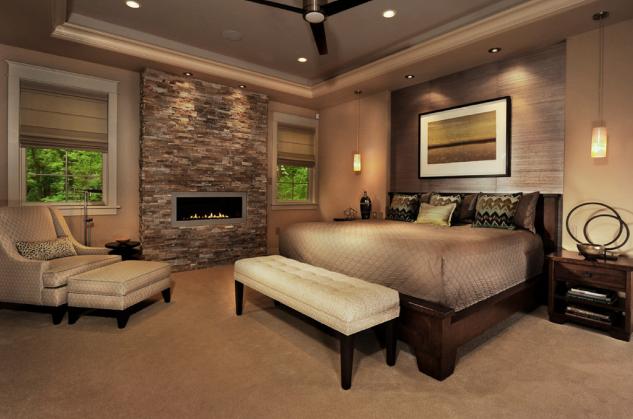 Dormitor traditional cu semineu