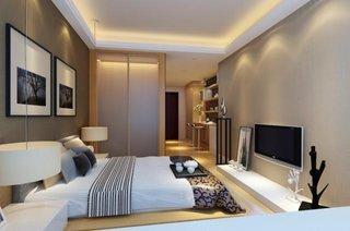 Dormitor ingust cu televizor idee asezare
