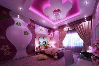 Camera fetite cu decor roz violet