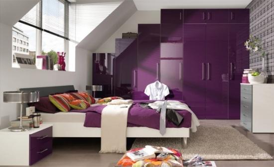 Decor camera violet pentru adolescente