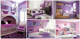 Dormitoare violet pentru fete