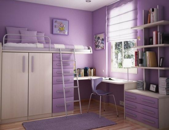 Dormitoare mov pentru fete si adolescente - inspiratie in imagini pentru micile domnisoare