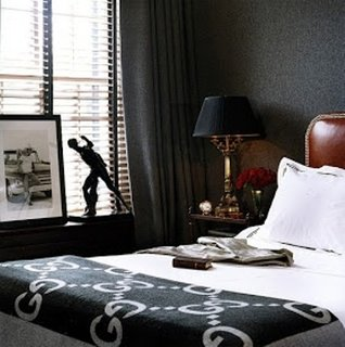 Dormitor masculin cu tema sportiva