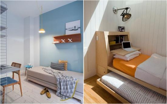Dormitoare de o persoana cu decor scandinav