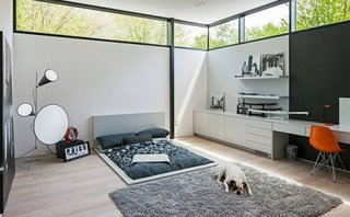 Dormitor alb minimalist
