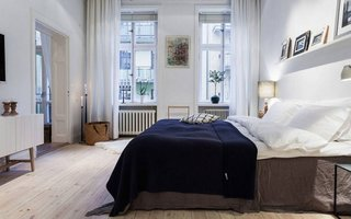 Dormitor elegant amenajat in culori neutre