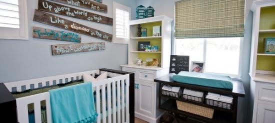 Camera de bebe cu accesorii turcoaz