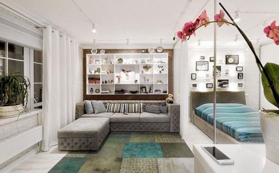 Idee pentru amenajarea unui dormitor in living