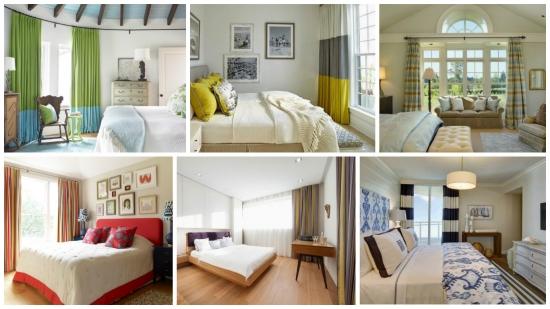 Draperii colorate dormitoare