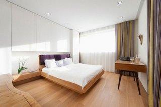 Draperii dormitor cu dungi