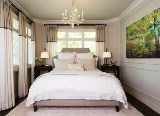 Draperii dormitor in doua culori