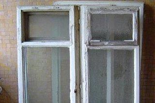 Fereastra veche dupa ce a fost demontata