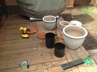 Materiale pentru confectionare fantana de gradina