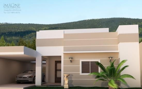 Casa mica cu design modern si fatada inedita garaj acoperit