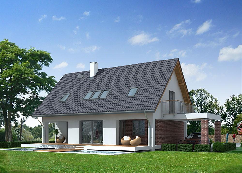 Casa cu acoperis in 2 ape proiect simplu