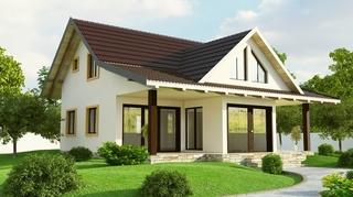 Casa cu mansarda model economic