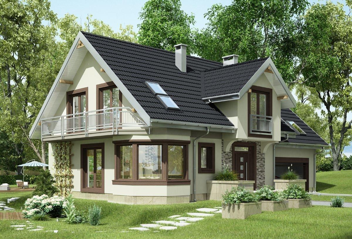 Casa cu perete de la intrare placat cu piatra