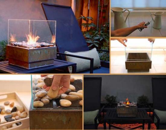 Cum faci un foc decorativ cu etanol pentru masa de pe terasa