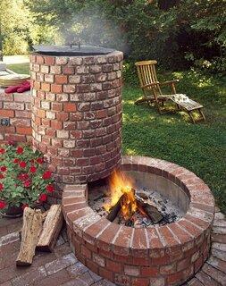 Foc de tabara decorativ pentru gradina din caramizi