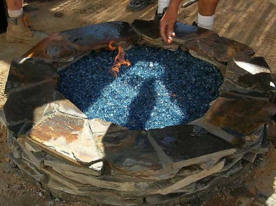 Groapa cu foc decorativa pentru gradina cu bioetanol
