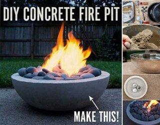 Semineu de masa din beton