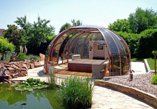 Pavilion semicircular