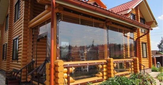 Folie transparenta terasa