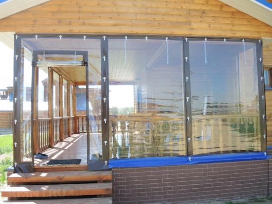 Terasa casa inchisa cu folie transparenta